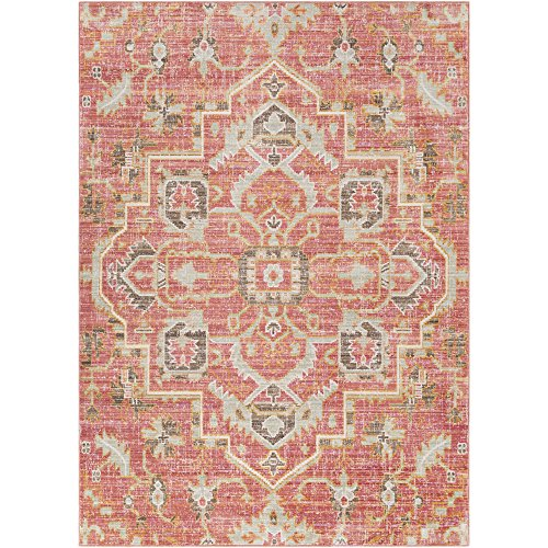 - Germaine Pale Pink and Pale Blue Updated Traditional Area Rug 2' x 3'