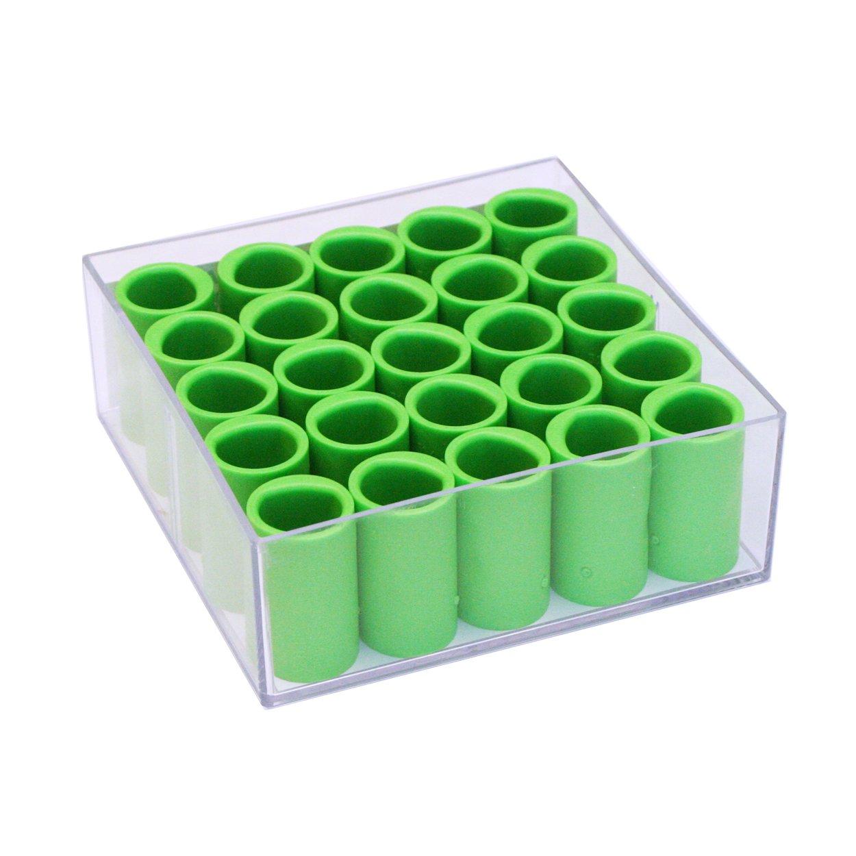 Vise Power Lift & Semi Finger Insert (Box of 25), Green, 3/4