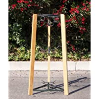 35 3 Step wood/metal Stand- Green
