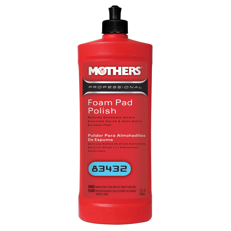 Mothers 83432-6 Professional Foam Pad Polish - 32 oz, (Pack of 6)