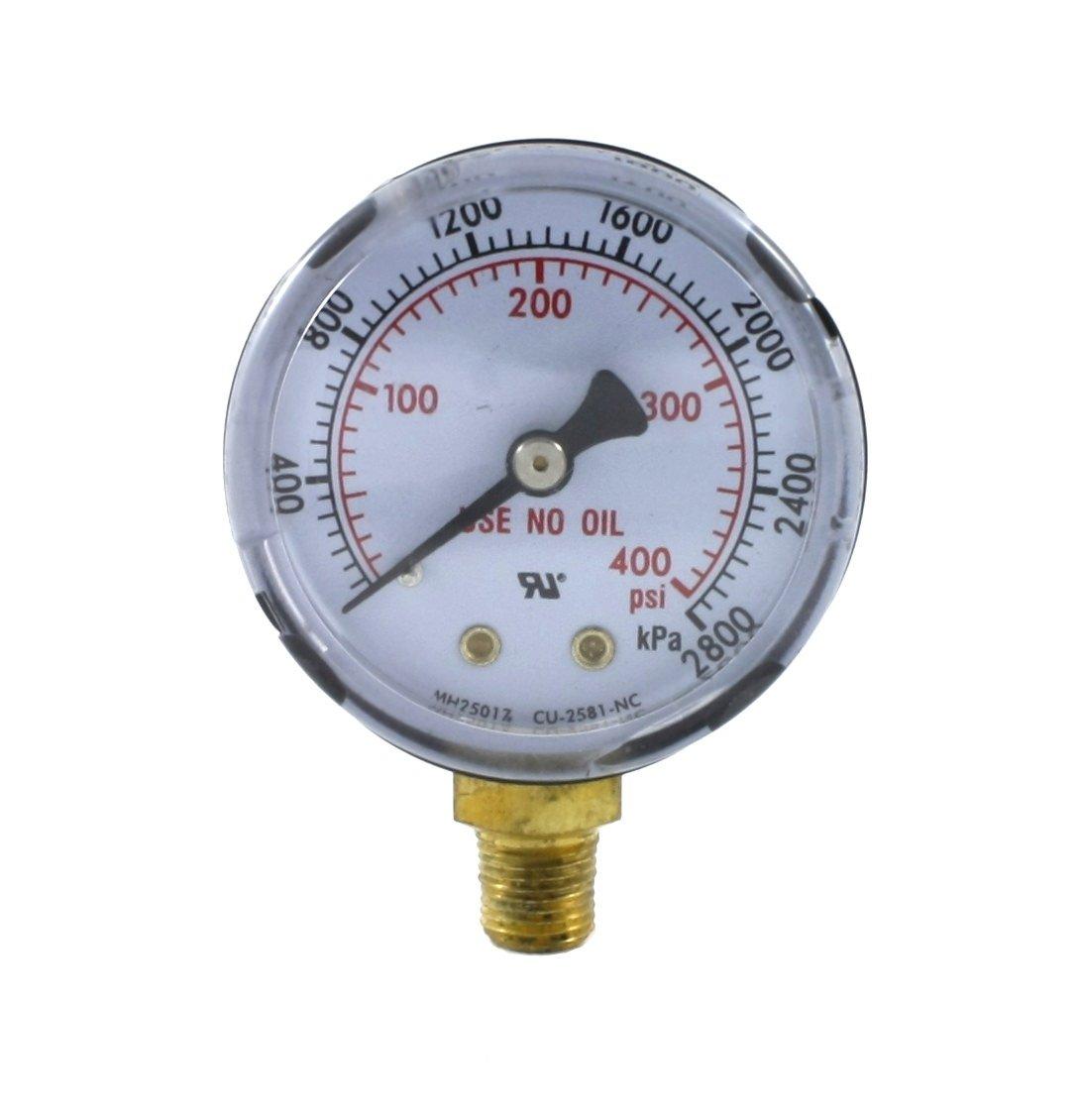 2 inches for LDP Regulators High Pressure Gauge for Acetylene Regulator 0-400 psi