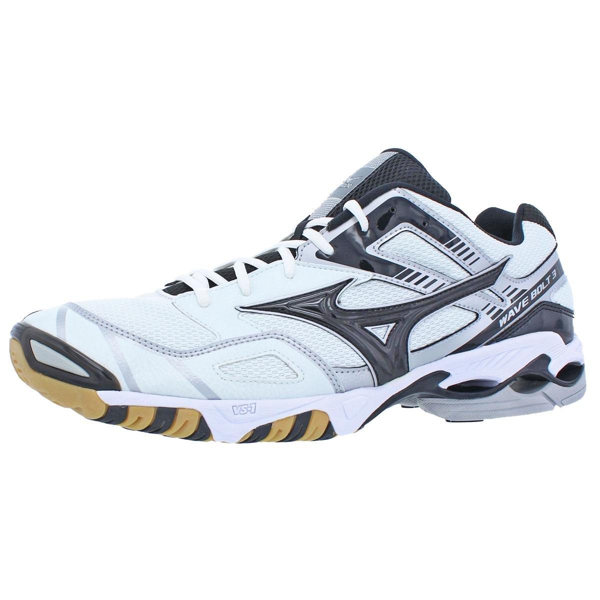 Mizuno Men's Wave Bolt 3 Volleyball Shoe,White/Black,16 M US by Mizuno