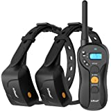 ieGeek Dog Training Shock Collar For 2 Dogs - Rechargeable & Waterproof - 1960ft Blind Operation Remote Controlled Electric e Collar with Tone / Vibration / Shock– For Small / Medium / Large Dogs