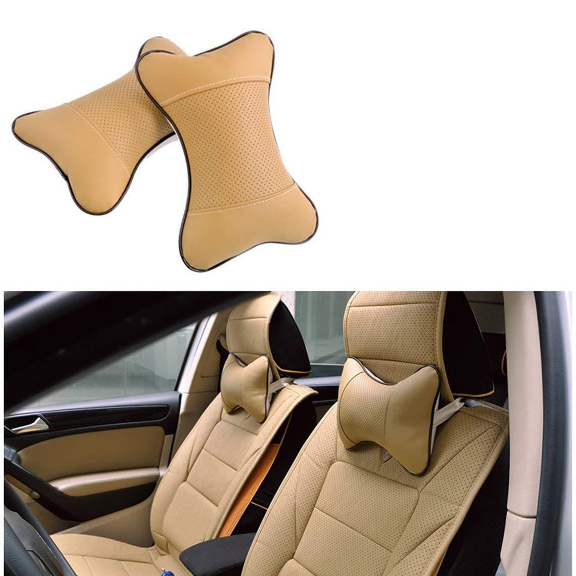 Momorain Auto-Kopfst/ütze Four Seasons Universal-Danny Auto-Kopfst/ütze gestickter Knochen Kissen Nackenkissen Automotive Interior Produkte