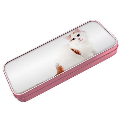 Rosa estuche, diseño de gato van turco lata 023: Amazon.es ...