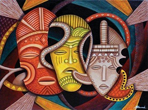 SunsOut Society Masks 1000 pc Jigsaw Puzzle ()