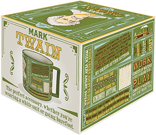 Mark Twain Coffee Mug - Twain's Most Famous Quotes and Depictions - Comes in a Fun Gift Box by The Unemployed Philosophers Guild (Image #2)