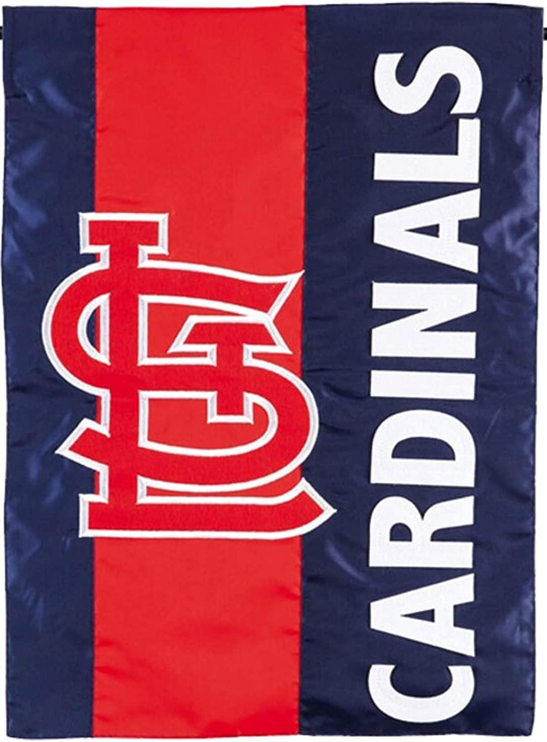 Rico Industries, Inc. St Louis Cardinals Embellished Premium 2-Sided Garden Flag Applique Embroidered Outdoor House Banner Baseball