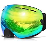 0e433dc2d4ee Amazon.com   HUBO SPORTS Ski Snow Goggles for Men Women Adult