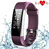 Fitness Tracker, Kybeco Elegant Waterproof Heart Rate Monitor Activity Tracker Bluetooth Wearable Wristband Wireless Step Counter Smart Bracelet Watch for Android and IOS Smartphones (Purple)