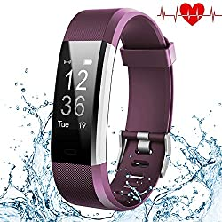 Kybeco Fitness Tracker, Elegant Waterproof Heart Rate Monitor Activity Tracker Bluetooth Wearable Wristband Wireless Step Counter Smart Bracelet Watch For Android & Ios Smartphones (Purple)