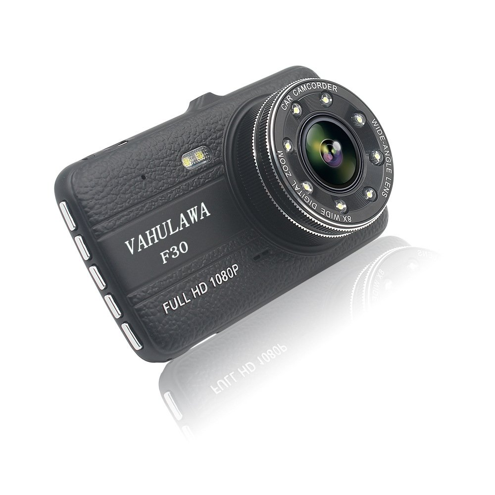 Amazon.com: Vahulawa F30 HD Dual Camera Lens Car Vehicle DVR Cam Dash Video  Recorder 8 IR Lights SOS With Night Vision: Car Electronics