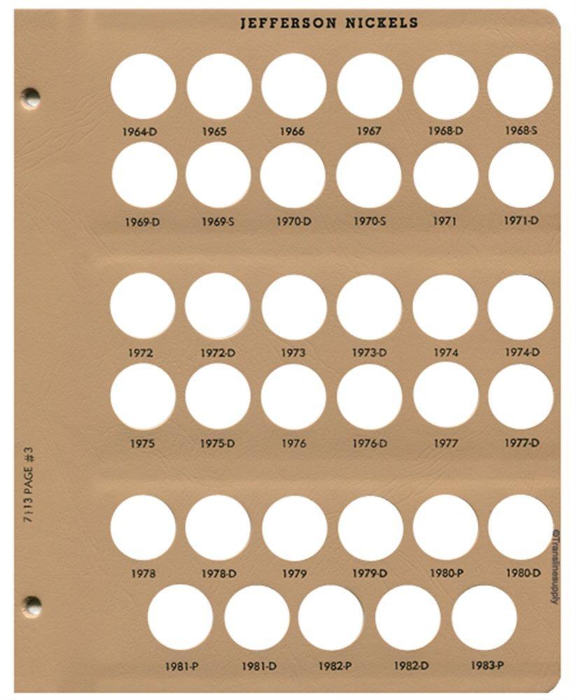 Dansco US Jefferson Nickel Coin Album 1938-2005 #7113