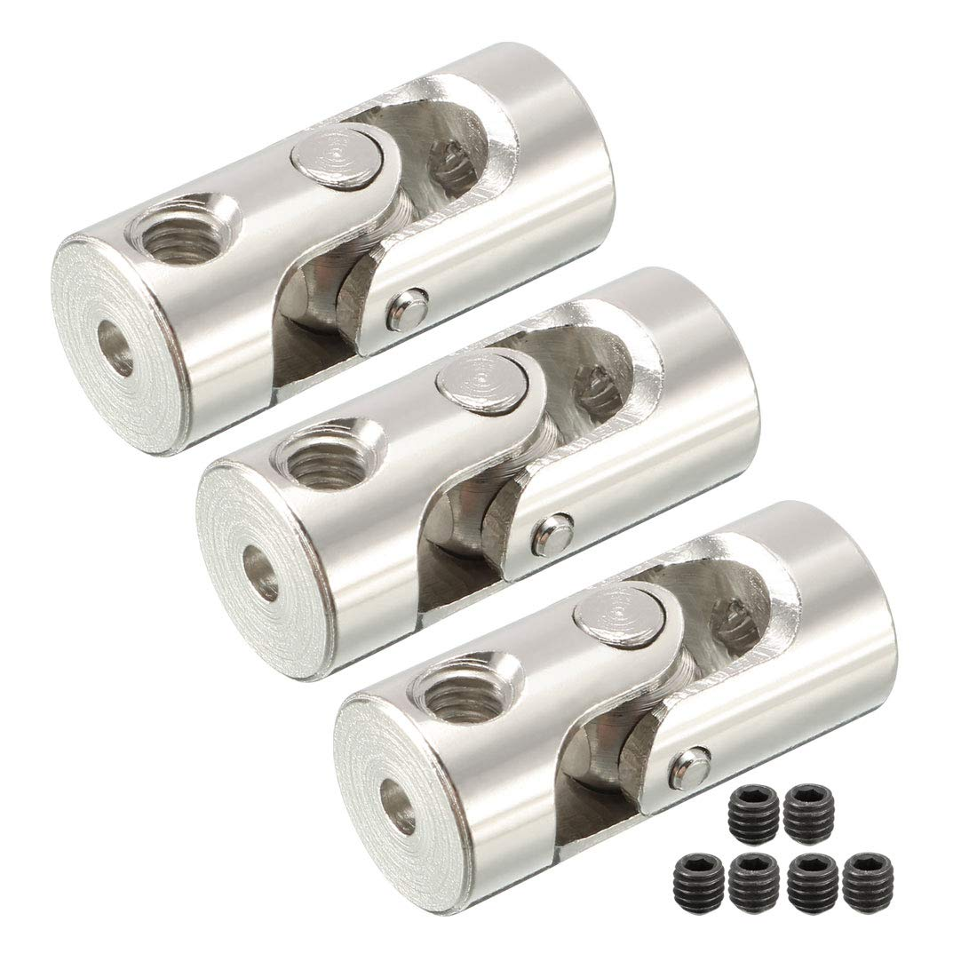 uxcell 2.0mm to 2.0mm Inner Dia Rotatable Universal Steering Mine U Joint Coupler 2pcs a17021800ux0207