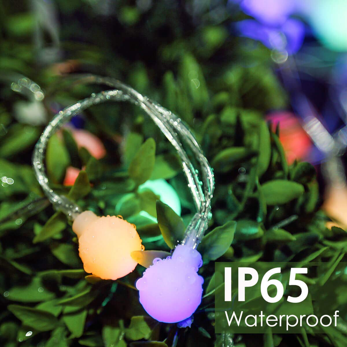 44Ft LED String Lights for Bedroom Patio Garden Wedding Party Xmas Bistro Cafe Porch Multicolor 100 LED Fairy Lights Outdoor Ball String Lights Plug in 8 Modes Waterproof Indoor lights with Remote Globe String Lights