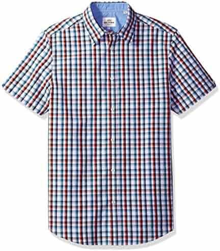 Ben Sherman Men's Short Sleeve Classic Check Dobby