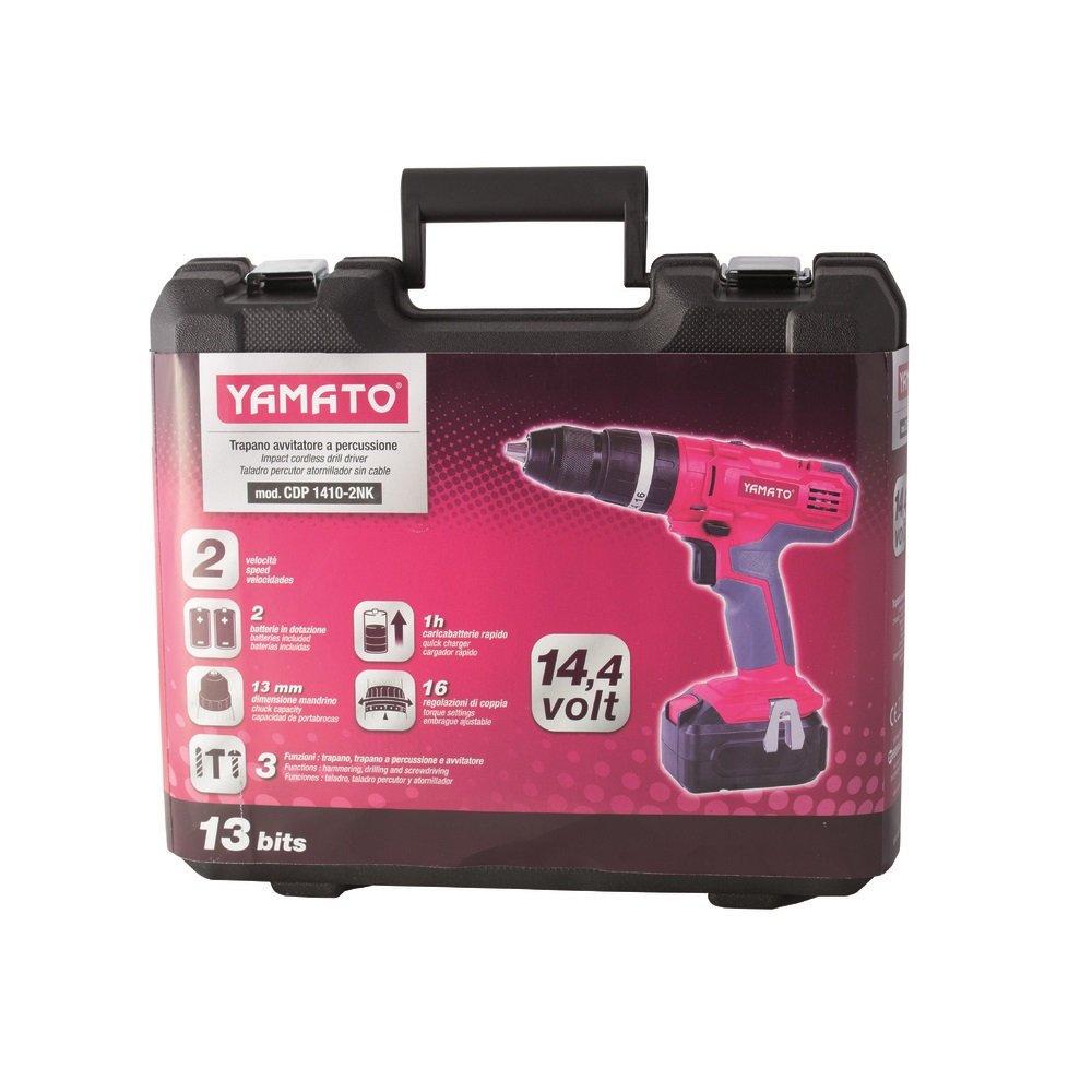 Yamato 7200010 Taladro Atornillador Percutor 16,0 voltios Litio 2,0 Ah con Maletin y 2 Baterias: Amazon.es: Bricolaje y herramientas