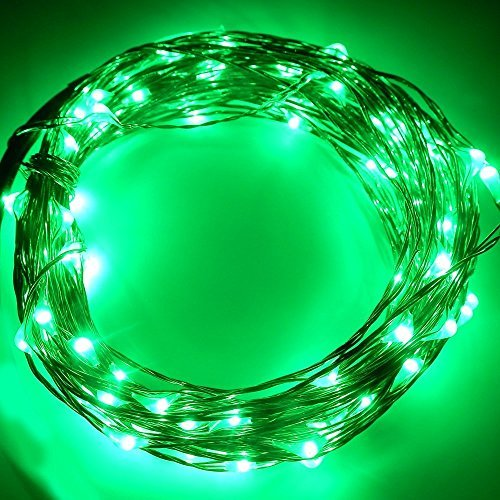 Led String Lights Dc : KCRIUS(TM) 33Ft Copper Wire LED Starry Lights, 12V DC LED String Light, Includes Power Adapter ...