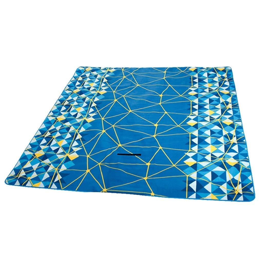 ピクニック毛布 ピクニックマット毛布、防水と防湿肥厚ライト屋外テントキャンプアルミフィルム  青 B07RZ472NM