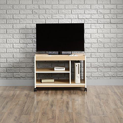 Sauder Square1 TV Cart in Urban Ash