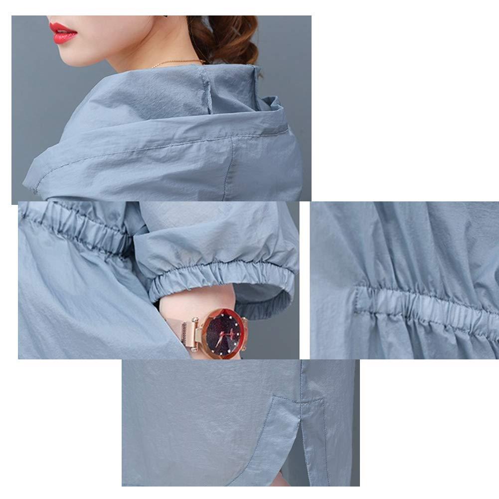 Womens Ultra Thin Hooded Anti-UV Windbreaker Sunscreen Jackets