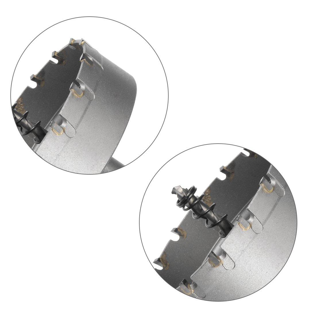 sourcing map taladro metal de Taladro Cortador de Agujeros de Carburo para aleaci/ón de acero inoxidable de 35mm