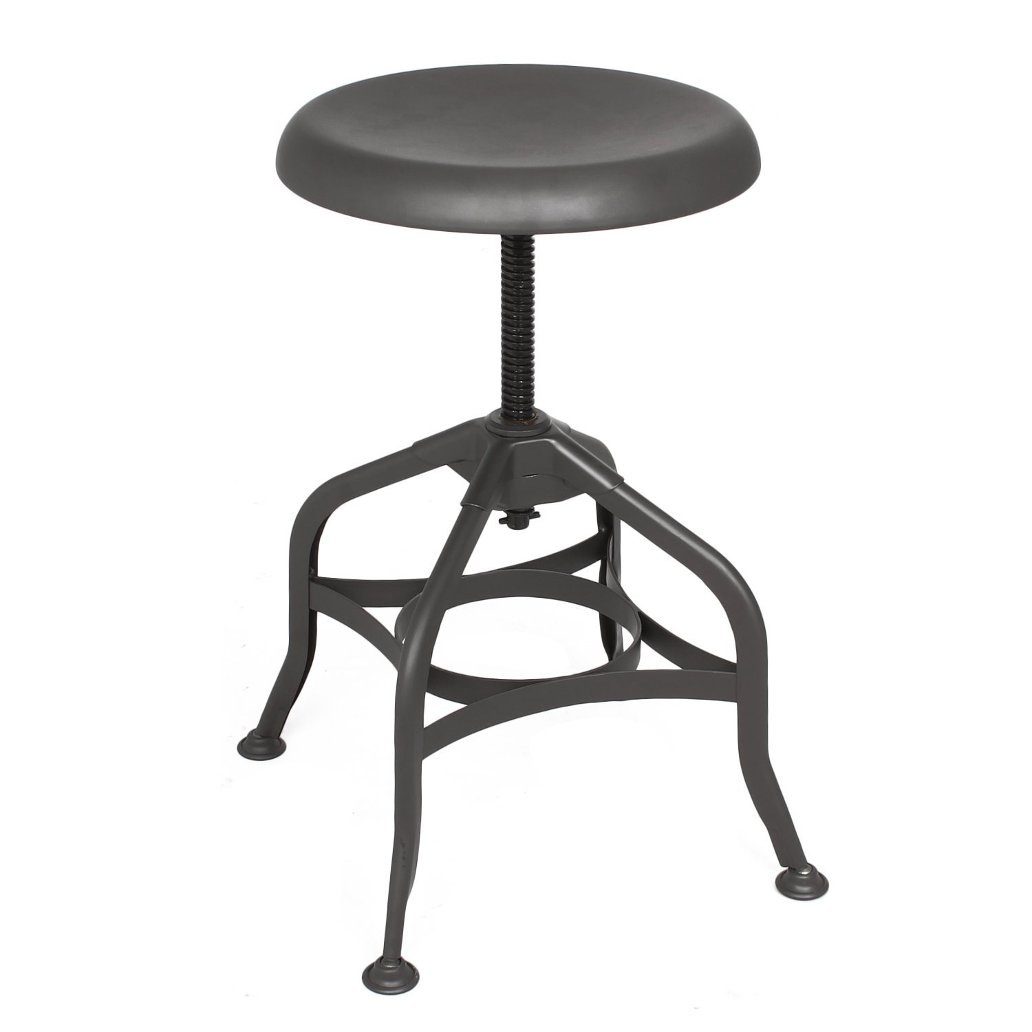 Adeco Industrial Chic Retro Style Swivel Adjustable Height