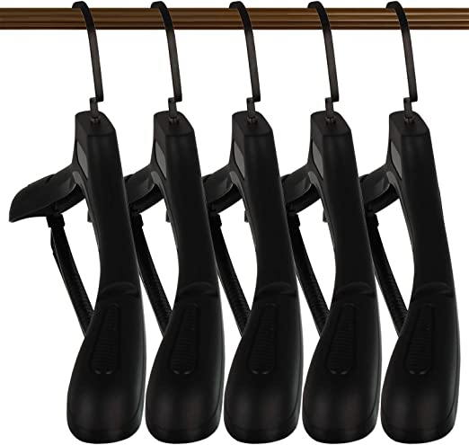 DEDU Plastic Extra Wide Suit Hangers White Pack of 15 Width: 17.7,Notched Shoulders /& Swivel Hooks