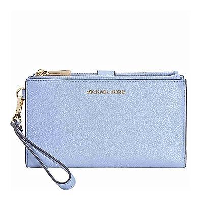 9bf3cc1653e2 MICHAEL KORS Adele Smartphone Wristlet - Pale Blue  Amazon.in  Shoes    Handbags