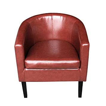 Astounding Furniture Uk Shop Faux Leather Tub Chair Armchair Club Chair Dining Living Room Cafe Padded Seat Red Spiritservingveterans Wood Chair Design Ideas Spiritservingveteransorg