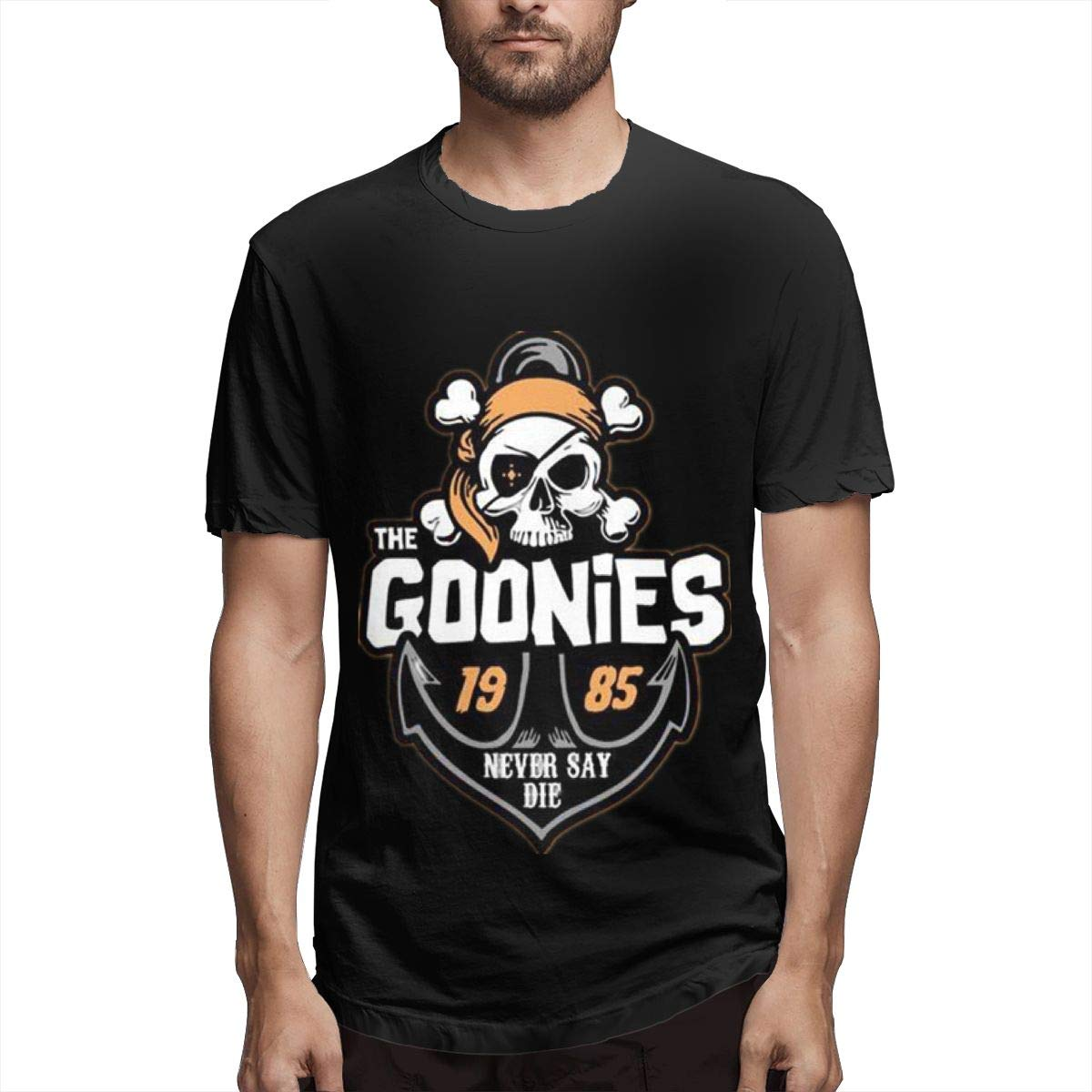 Lihehen Mans Goonies Logo Fashion Leisure Round Neck Tees Shirts