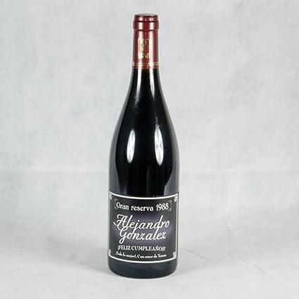 Regalo para cumpleaños, aniversario, Navidad, San Valentín... Botella de vino
