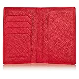 David Hampton Richmond Leather Passport Holder (Red)