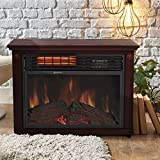 Gracelvoe Large Room Electric Quartz Infrared Fireplace Heater Deluxe Mantel Oak / Walnut