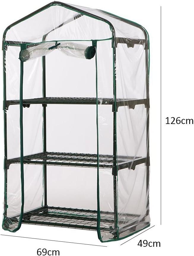 Rahmen ist nicht im Lieferumfang enthalten transparente Abdeckung f/ür Gew/ächsh/äuser . PVC-Mini-Gew/ächshausfolie