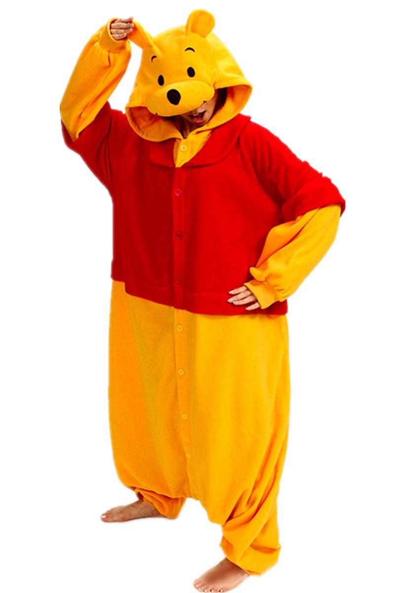 Sheena Winnie the Pooh Costume Adult Cartoon Cosplay Pajamas Onesies Sleepsuit (Medium)