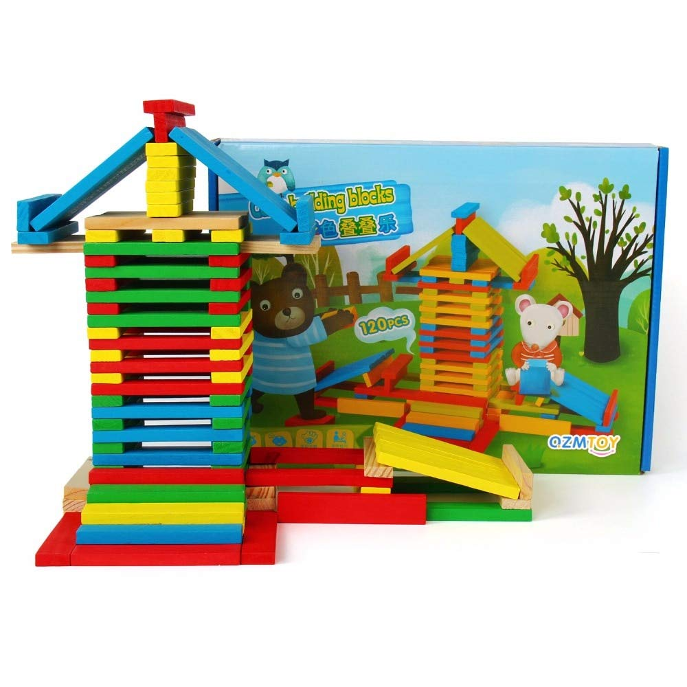 Aquaman Store Blocks - pcs Children Wooden Toys Stacking Blocks Games Baby Learning Education Model Shapes Toys Rolling Stacked Tower Blocks 1 PCs