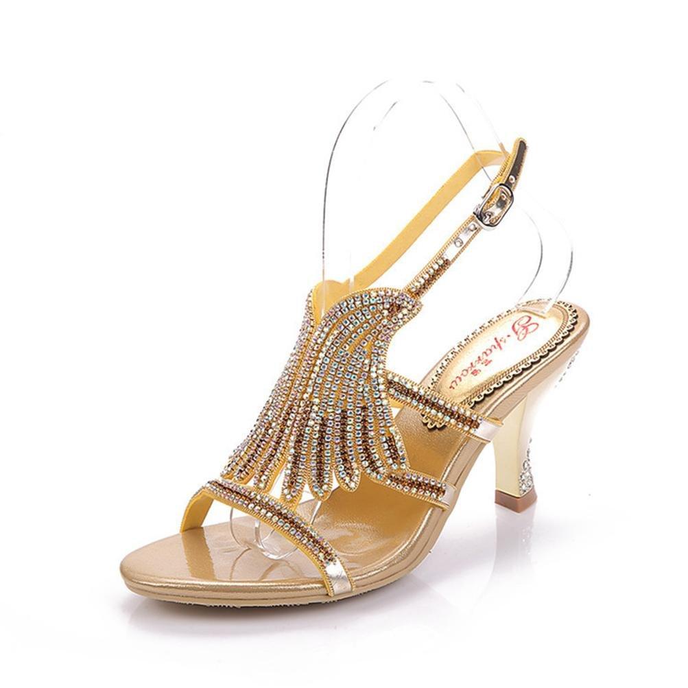 pas mal da7c1 cec2d Mme xie Fine orEN-36 Chaussures Femmes Hauts Talons Boucle ...