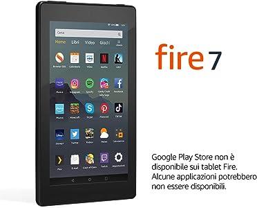 """Tablet Fire 7, schermo da 7"""", 16 GB, (Nero) - con offerte speciali"""