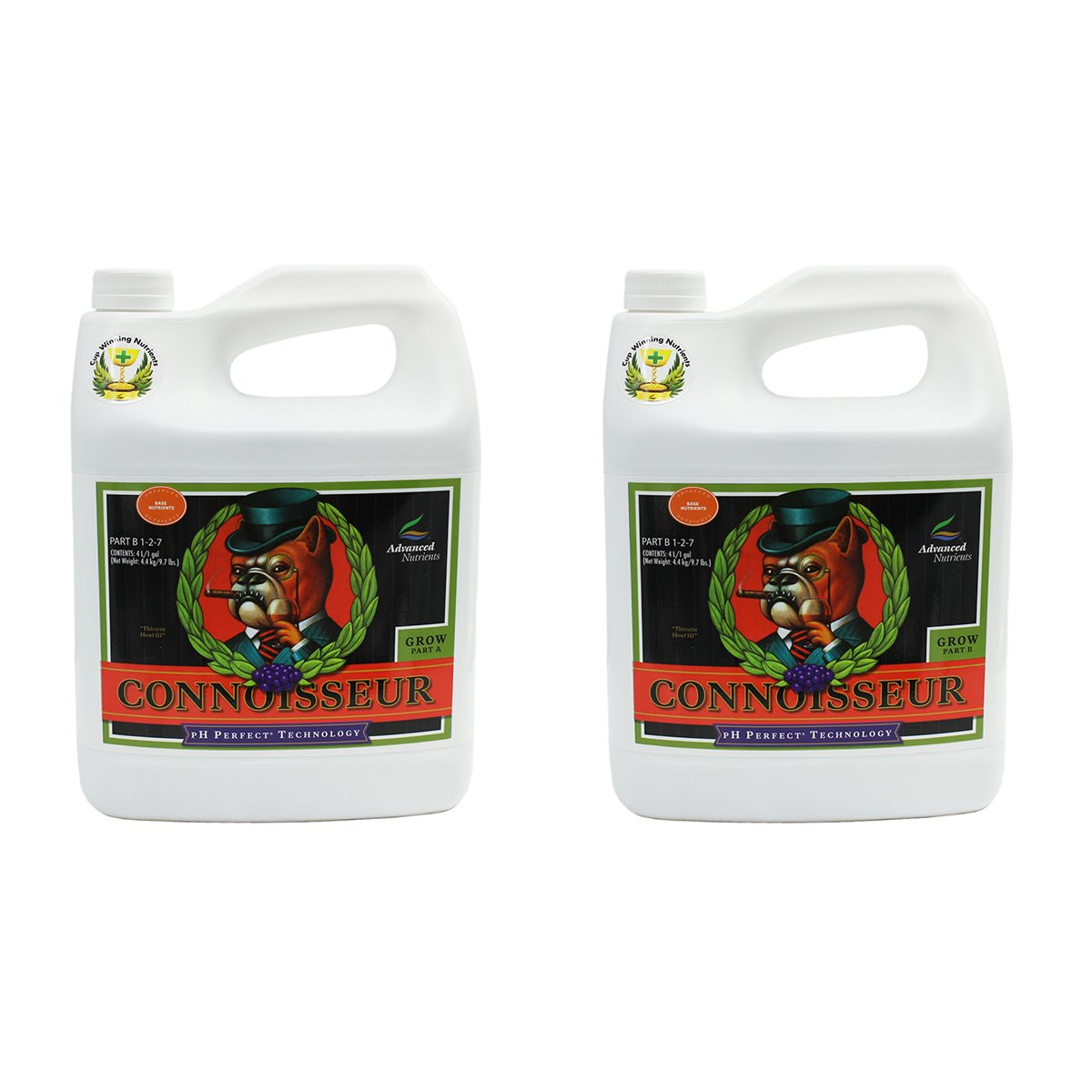Advanced Nutrients pH Perfect Connoisseur Grow Part A+B Soil Amendments, 4 L by Advanced Nutrients
