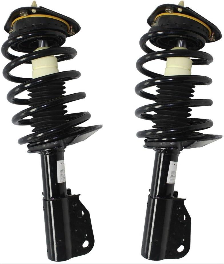 Detroit Axle (171685 x2) Front Strut & Complete Coil Spring Assembly (2pc Set) No Electrical Plug