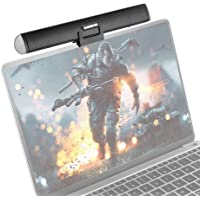 """Portable USB Speaker,Mini USB Powered External Clip-On Sound Bar for Laptop,Notebook,Ultrabook,Windows PCs,Computer or Stands On Desktop-Gaming Speakers and Music Sound Box(Black,7.8""""x1.2""""x0.9"""")"""