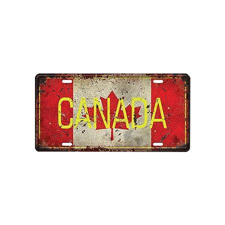 1PC de la Vendimia Metal Cartel de Chapa CANADÁ Cafetería Bar Pub decoración de la Pared del Hierro Creativo Placa de la Pared del Cartel