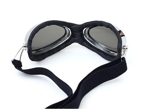 HUWQX Komplexe Guha Lei Motorradbrille Wind Brille Stil Silber Box Kratzer, kann Anti-UV-Band eingestellt werden, 4#