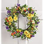 19-Dia-Colorful-Wild-Flowers-and-Daisy-Floral-Wreath-Decor-Spring-Accent-Decoration