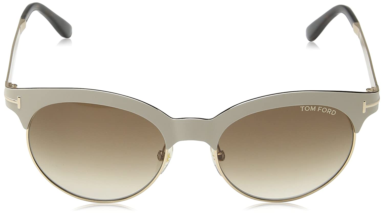 77de199a36 Tom Ford Sunglasses TF 438 Angela Sunglasses 28F White 53mm at Amazon Men s  Clothing store