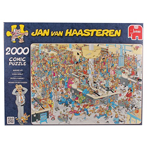 Jan Van Haasteren - 2000-piece Queued Up Jigsaw Puzzle