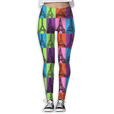 Yoga Pants, Workout Leggings, Eiffel Tower Paris Pop Art ...