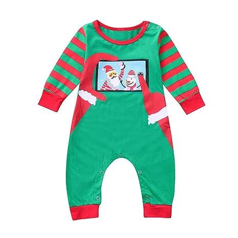 Ropa Bebe Niño Halloween Bebe Infant Baby Boys Girls Pijamas De Papá Noel A Rayas Familia