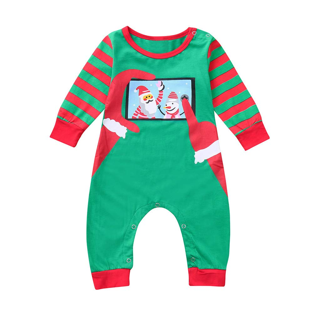 Family Christmas Pajamas Set Mum Dad Kids Little Christmas Santa Clausl Print in Training Festive Xmas Pyjamas